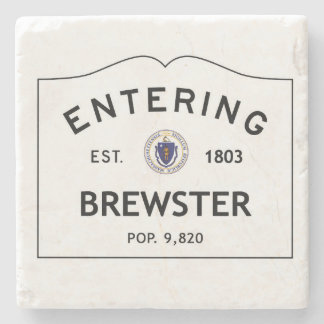 Entering Brewster Marble Coaster Stone Coaster