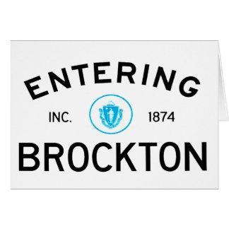 Entering Brockton Card