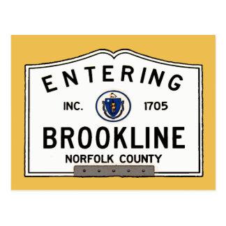 Entering Brookline Postcard