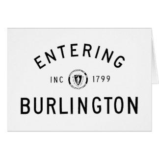 Entering Burlington Card