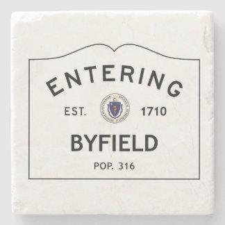 Entering Byfield Massachusetts Marble Coaster