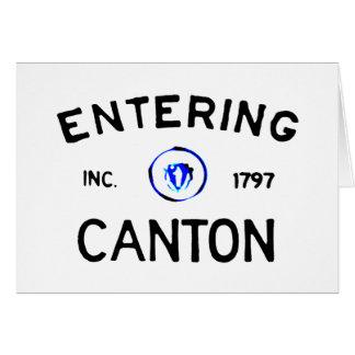 Entering Canton Card