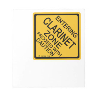 Entering Clarinet Zone Notepad