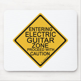 Entering Electric Guitar Zone Mouse Pad