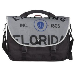 Entering Florida Sign Laptop Messenger Bag