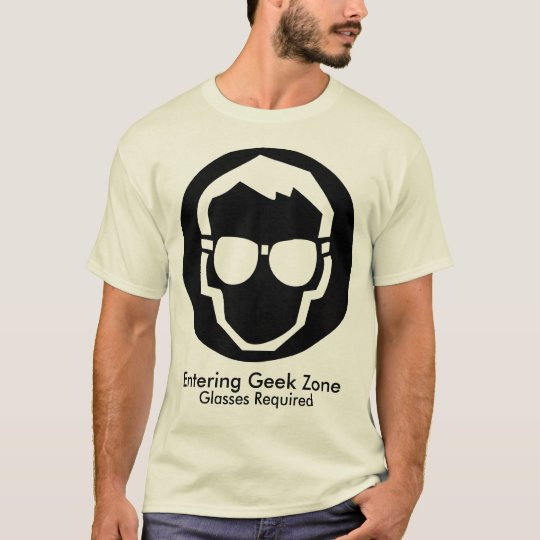 Entering Geek Zone, Glasses Required T-Shirt
