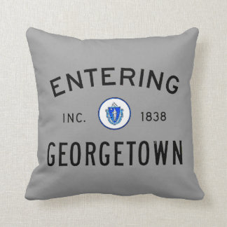 Entering Georgetown Throw Pillow