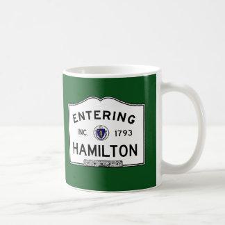 Entering Hamilton Coffee Mug