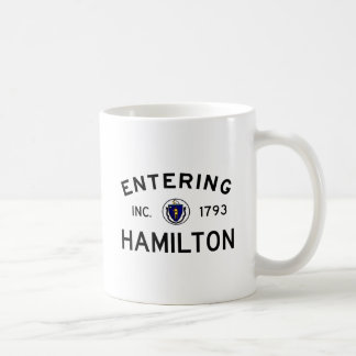 Entering Hamilton Classic White Coffee Mug