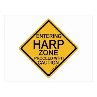 Entering Harp Zone Postcard