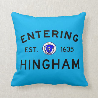 Entering Hingham Throw Pillow