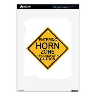 Entering Horn Zone Skin For iPad 3