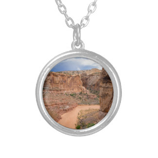 Entering Horseshoe Canyon - Utah Silver Plated Necklace