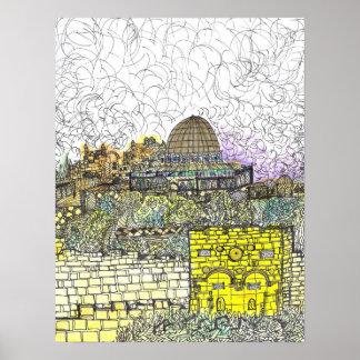 Entering Jerusalem Through Golden Gate Poster