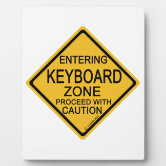 Entering Keyboard Zone Plaques