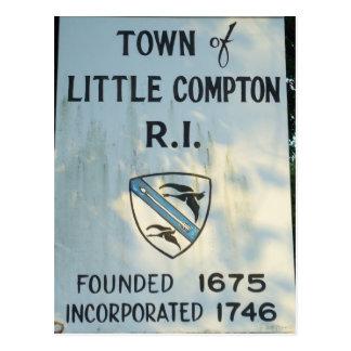 Entering Little Compton, RI Postcard