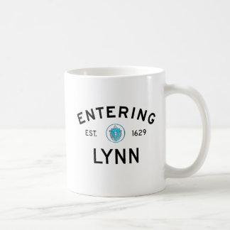 Entering Lynn Classic White Coffee Mug