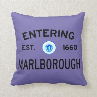 Entering Marlborough Throw Pillow