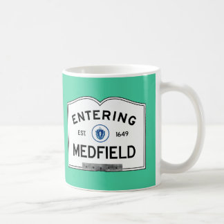 Entering Medfield Coffee Mugs
