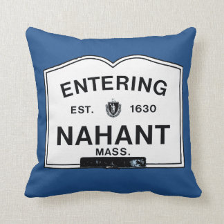 Entering Nahant Throw Pillow