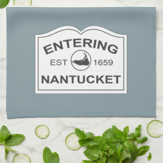 Entering Nantucket Est. 1659 Sign in Beach Blue Hand Towel