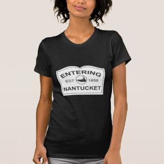 Entering Nantucket Est. 1659 Sign in Black & White T-Shirt