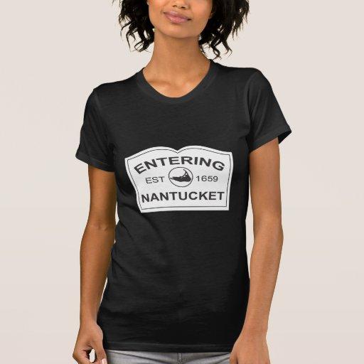 Entering Nantucket Est. 1659 Sign in Black & White Shirt