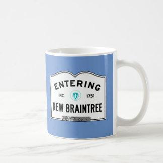 Entering New Braintree Classic White Coffee Mug