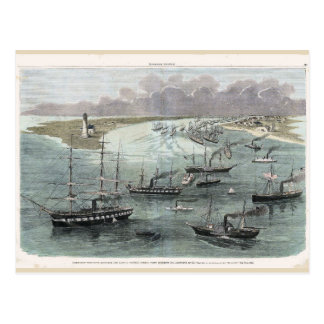 Entering New Orleans, Commodore Farragut's Ships Postcard