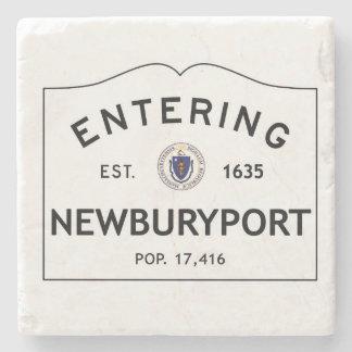 Entering Newburyport Marble Coaster Stone Coaster