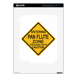 Entering Pan Flute Zone iPad 3 Decal