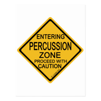 Entering Percussion Zone Post Cards