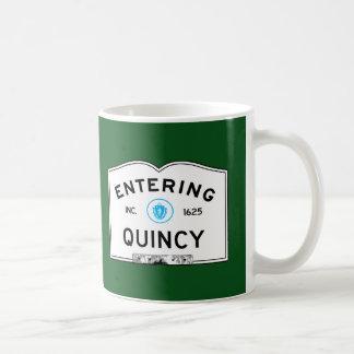 Entering Quincy Coffee Mug