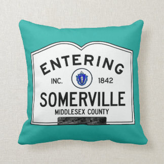 Entering Somerville Throw Pillow