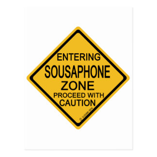 Entering Sousaphone Zone Postcard