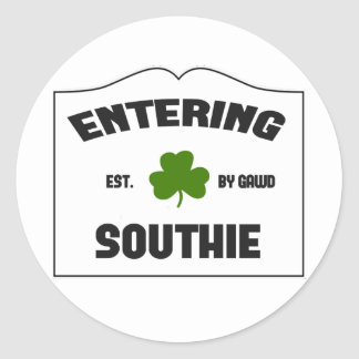 Entering Southie Classic Round Sticker