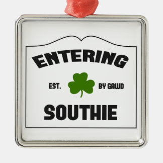Entering Southie Metal Ornament