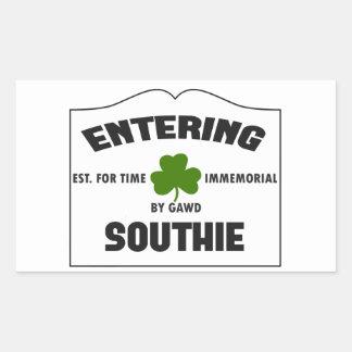 Entering Southie Rectangular Sticker