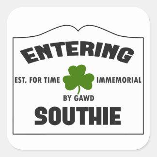 Entering Southie Square Sticker