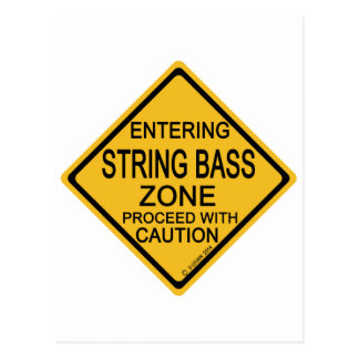 Entering String Bass Zone Postcard