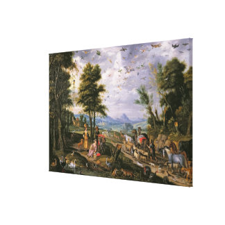 Entering the Ark Canvas Prints