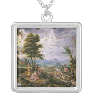 Entering the Ark Silver Plated Necklace
