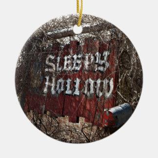 Entering the Sleeping Hollow Ceramic Ornament
