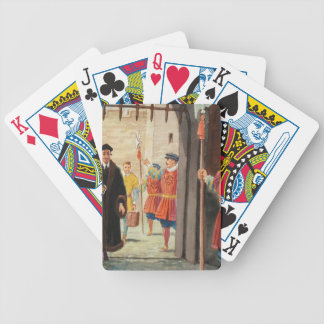 Entering the Tower of London Bicycle Playing Cards