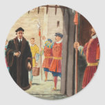 Entering the Tower of London Round Sticker
