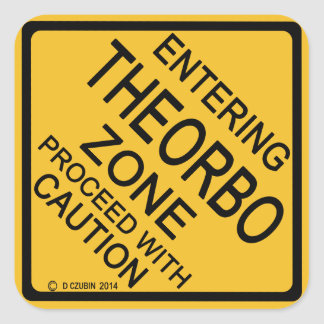 Entering Theorbo Zone Square Sticker