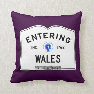 Entering Wales Throw Pillow