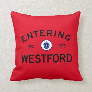 Entering Westford Throw Pillow
