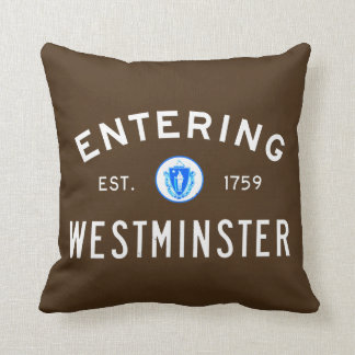 Entering Westminster Throw Pillow