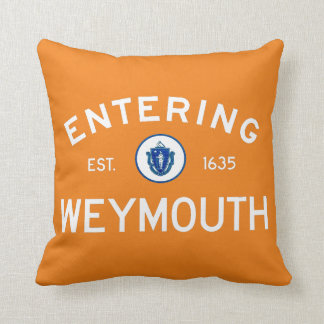 Entering Weymouth Throw Pillow